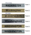 Washington Clock Name Plate |World Time Zone City Wall clocks Sign custom Plaque